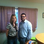 With Ms. Heather Gore and Mr. David Cabrera from Home Depot touring our Veteran's Village.;